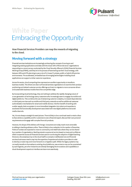 Reap the rewards of migrating to the cloud