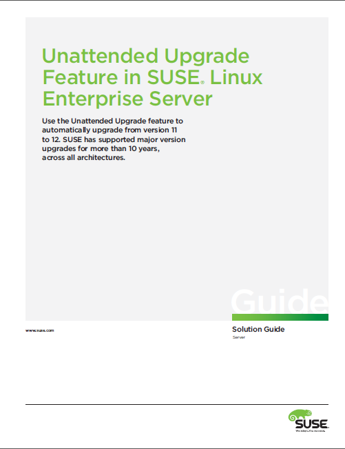Unattended Upgrade Feature in SUSE® Linux Enterprise Server