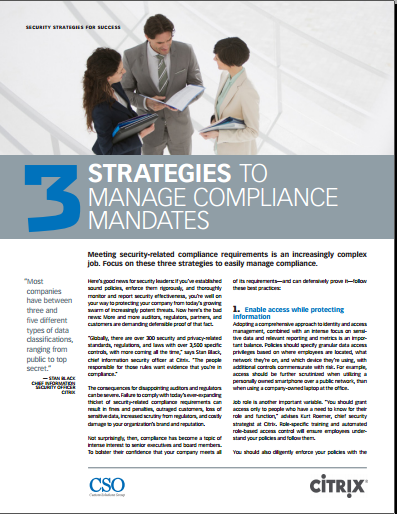 CSO – 3 strategies to manage compliance mandates