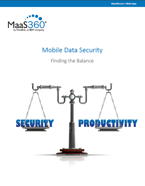 Mobile Data Security: Finding the Balance