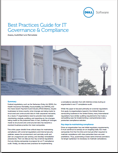Best Practices Guide for IT Governance & Compliance
