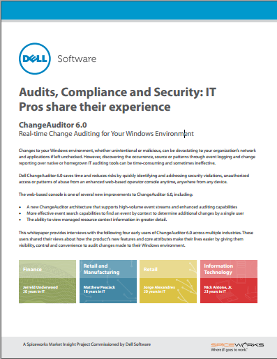Audits, Compliance and Security: IT  Pros share their experience