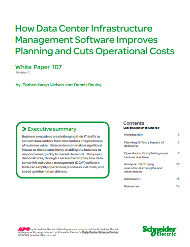 How Data Center Infrastructure  Management Software Improves  Planning and Cuts Operational Costs