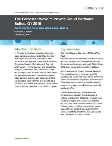 The Forrester Wave™: Private Cloud Software  Suites