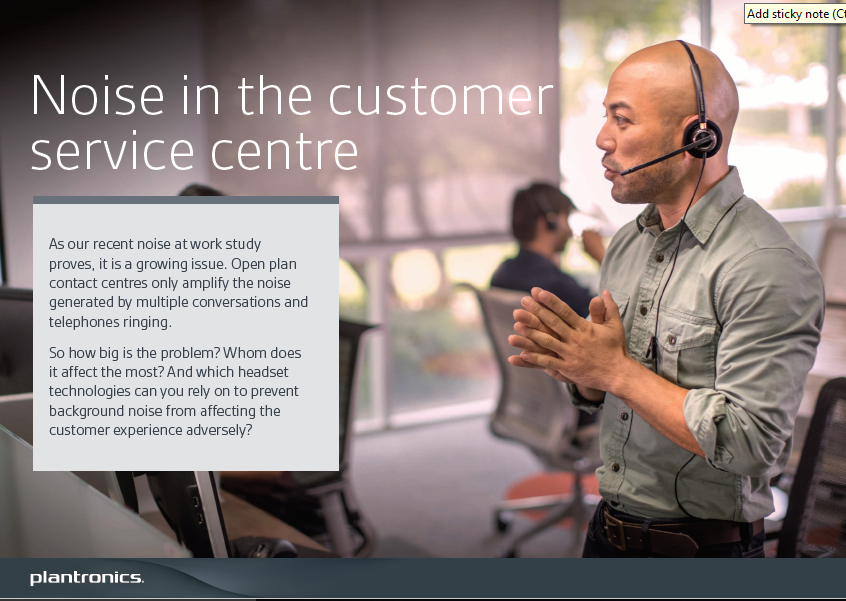 Noise in the Customer Service Center