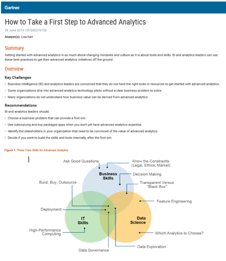 How to Take a First Step to Advanced Analytics
