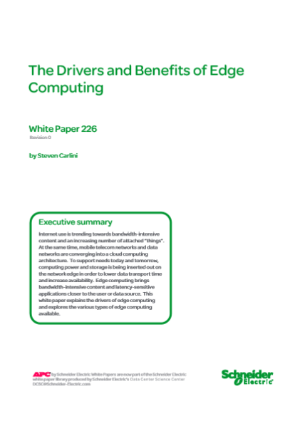 The Drivers and Benefits of Edge Computing