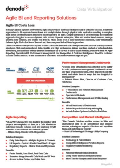 Agile BI and Reporting Solutions