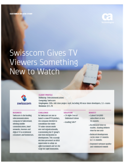 Swisscom Gives TV Viewers Something New to Watch