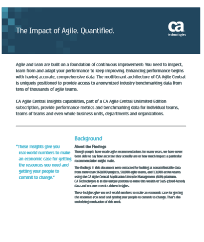 The Impact of Agile. Quantified.
