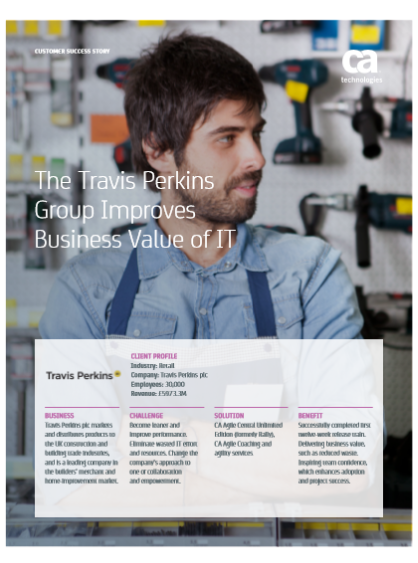 The Travis Perkins Group Improves Business Value of IT