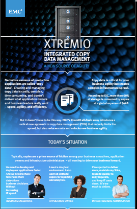 XTREMIO, Integrated copy data management: a new source of agility