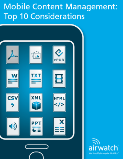 Mobile Content Management: Top 10 Considerations