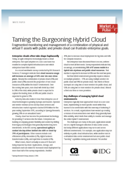 Taming the Burgeoning Hybrid Cloud