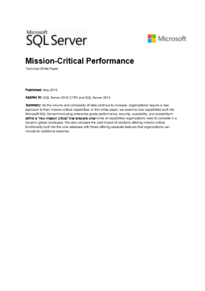 Mission-Critical Performance