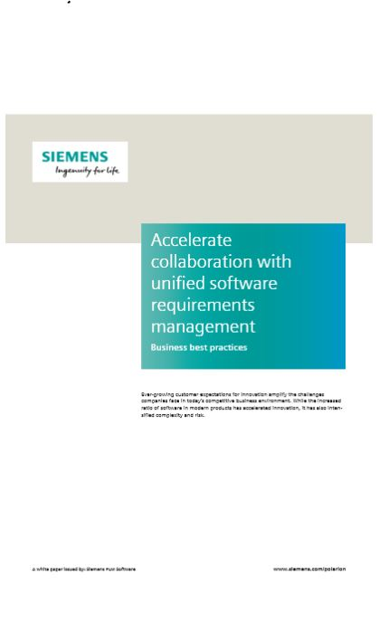 Accelerate  collaboration with  unified software  requirements  management