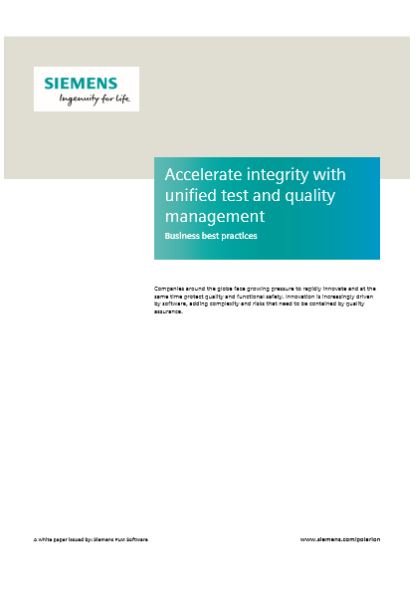 Accelerate integrity with unified test and quality management