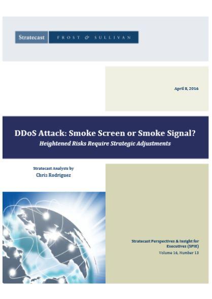 DDoS Attack: Smoke Screen or Smoke Signal?