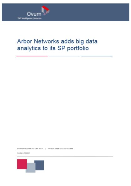 Arbor Networks adds big data analytics to its SP portfolio