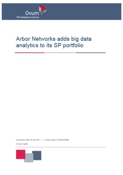 Arbor Networks adds big data analytics to its SP portfolio
