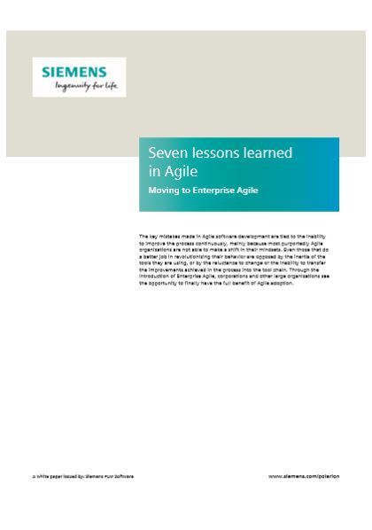Seven lessons learned  in Agile Moving to Enterprise Agile