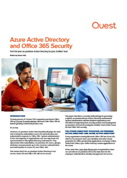 Azure Active Directory and Office 365 Security