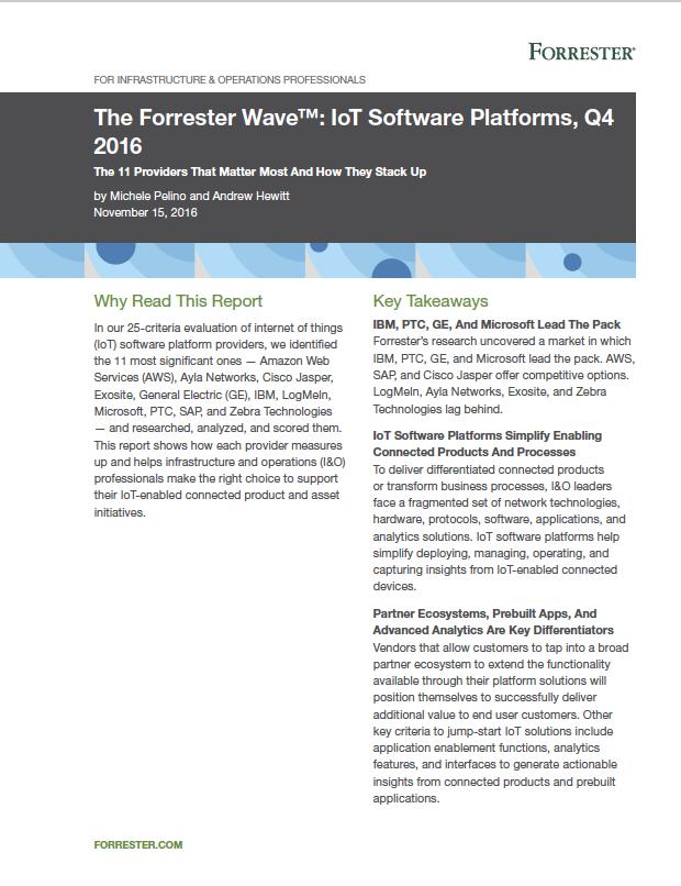 The Forrester Wave™: IoT Software Platforms, Q4 2016