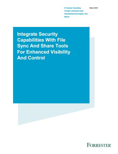 Integrate security capabilities with file sync and share tools for enhanced visibility and control