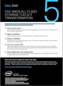 5 Ways All-Flash Storage Fuels IT Transformation
