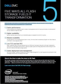 5 Ways All-Flash Storage Fuels IT Transformation