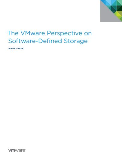 The VMware Perspective on  Software-Defined Storage