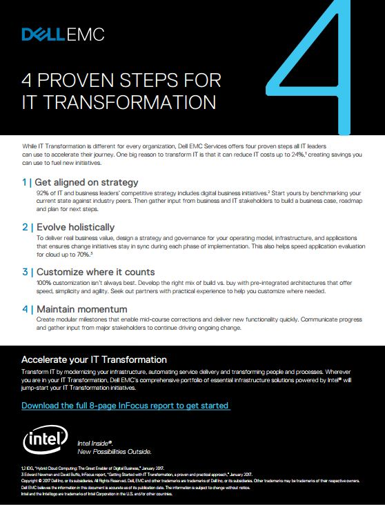 4 PROVEN STEPS FOR IT TRANSFORMATION