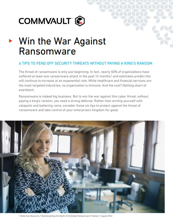 Win the War Against Ransomware