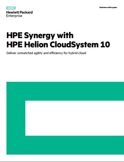 HPE Synergy with HPE Helion CloudSystem 10