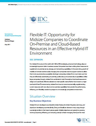 Flexible IT: Coordinate On-Premise and Cloud-Based Resources in an Effective Hybrid IT Environment