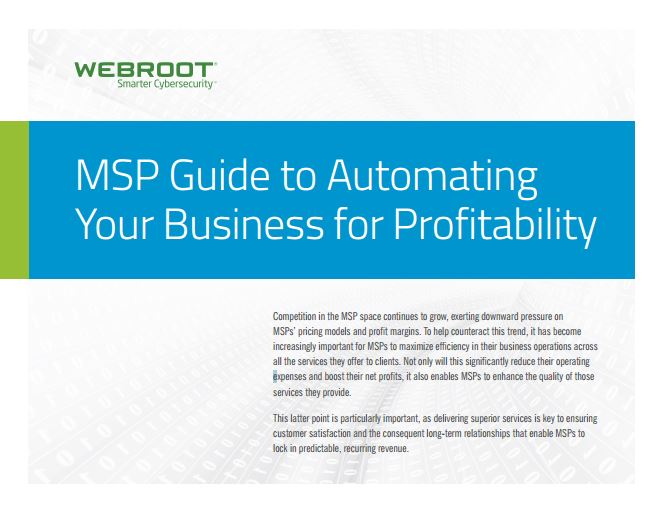 MSP Guide to Automating  Your Business for Profitability