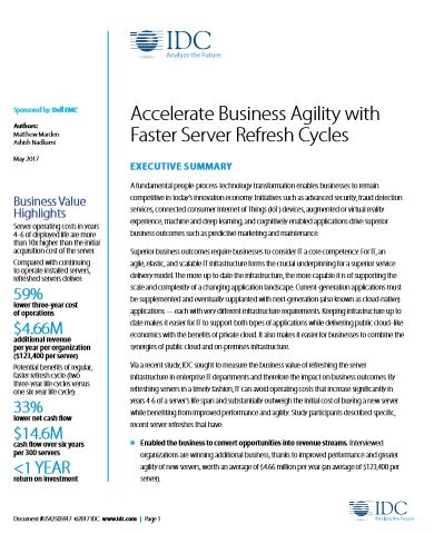 Accelerate Business Agility with Faster Server Refresh Cycles