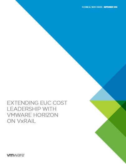 VMWARE HORIZON  ON VxRAIL