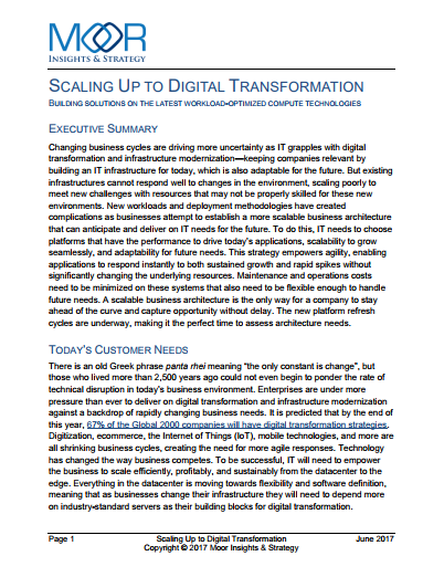 Scaling Up To Digital Transformation