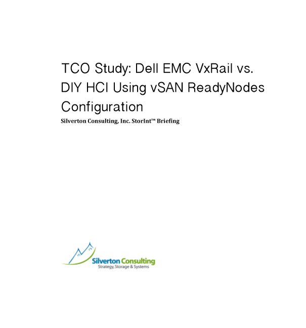 TCO Study: Dell EMC VxRail vs. DIY HCI Using vSAN ReadyNodes