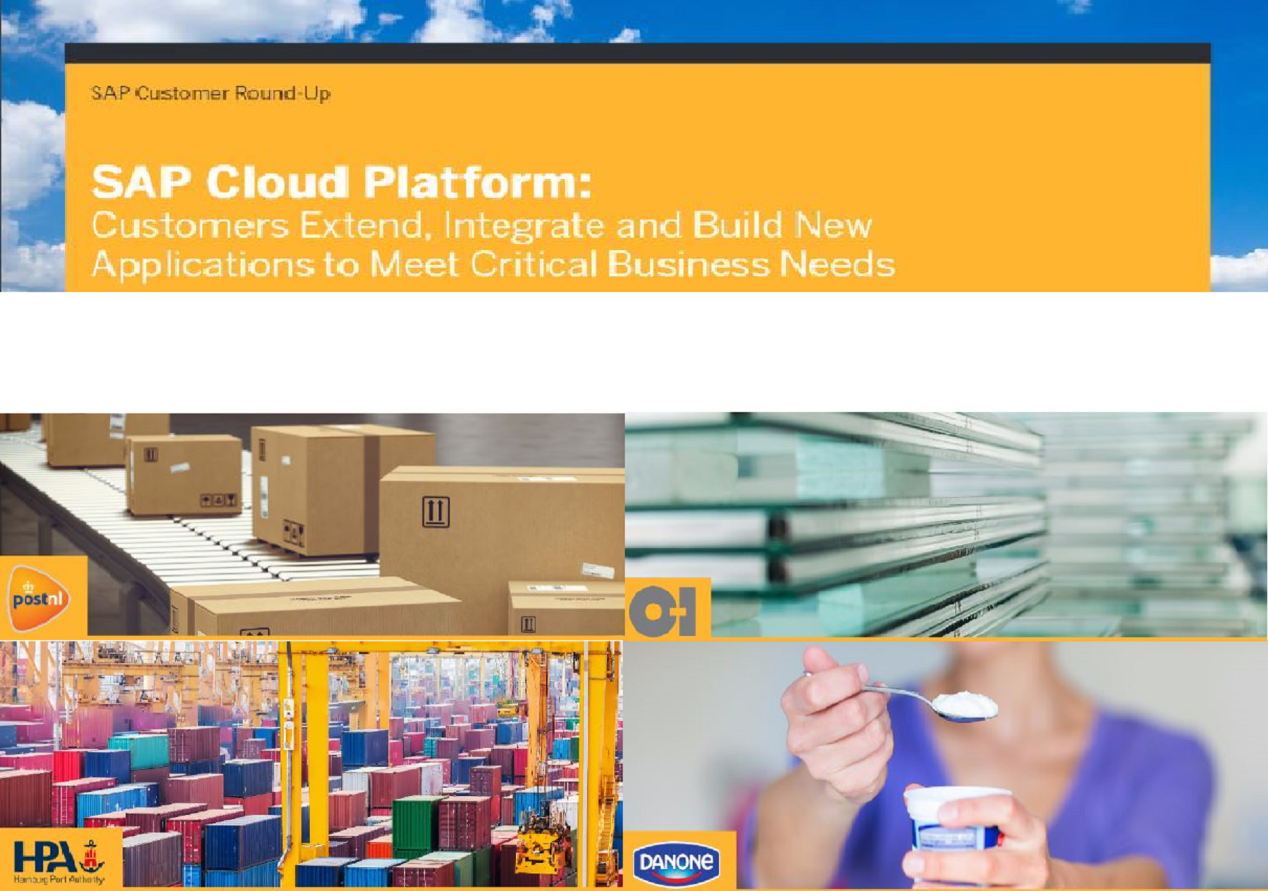 CUSTOMERS EXTEND, INTEGRATE AND BUILD NEW APPLICATIONS TO MEET CRITICAL BUSINESS NEEDS