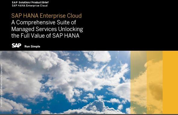 A Comprehensive Suite of Managed Services Unlocking the Full Value of SAP HANA