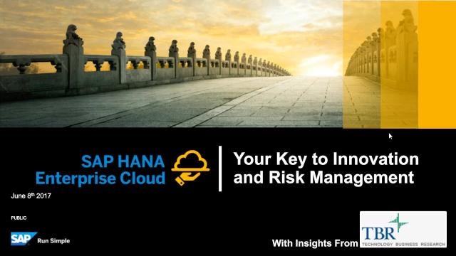 SAP HANA Enterprise Cloud – Your Key to Innovation and Risk Management