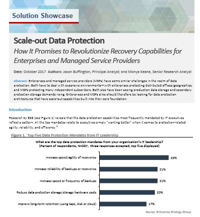 ESG Solution Showcase. Scale-Out Data Protection
