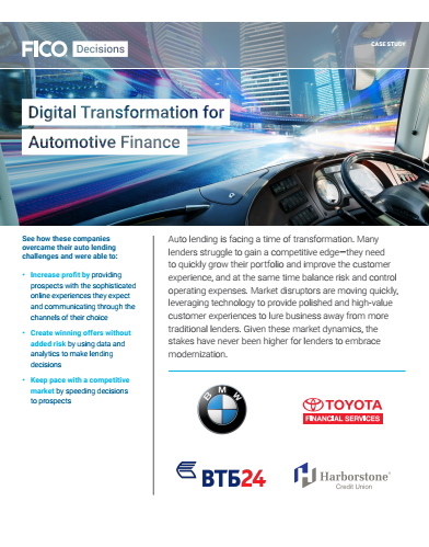 Digital Transformation for Automotive Finance