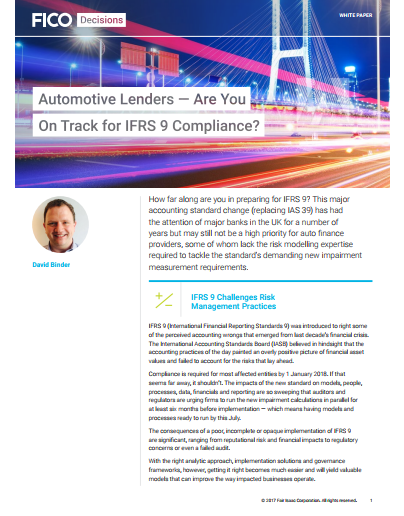 Are You on Track for IFRS 9 Compliance?