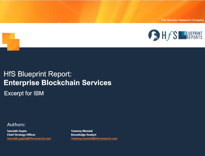 HfS Blueprint Report: Enterprise Blockchain Services