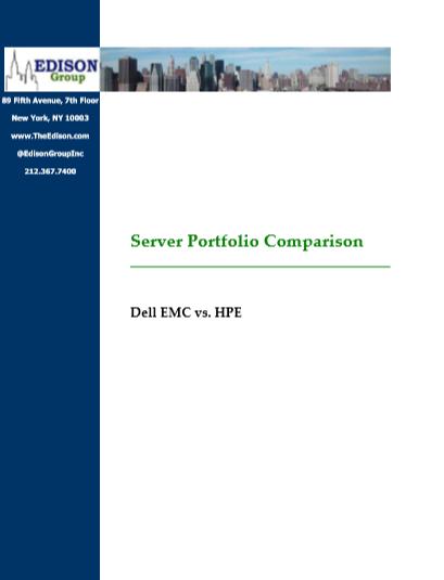 Server Portfolio Comparison