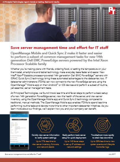 Save server management time and effort for IT staff