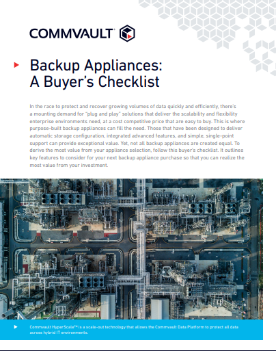 Backup Appliances: A Buyer's Checklist